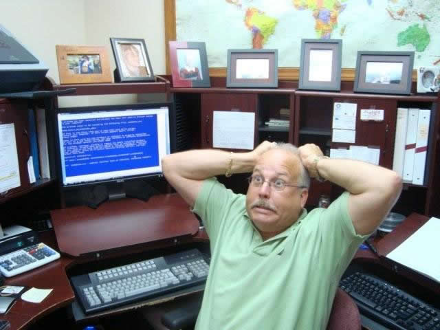 Harold Owens, happy about computers!